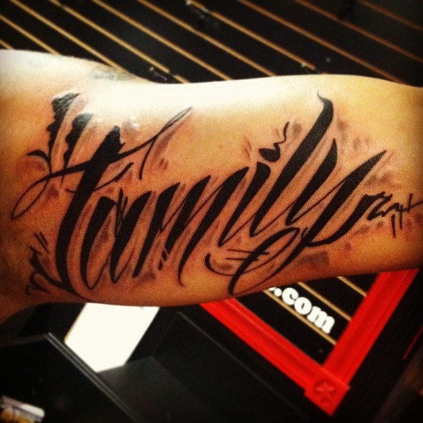 Family Script Bobby Ink Tattoos